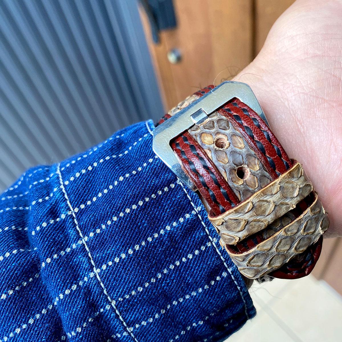 クロコダイル腕時計ベルト レザー腕時計ベルト「Yoshiki-WatchBox」