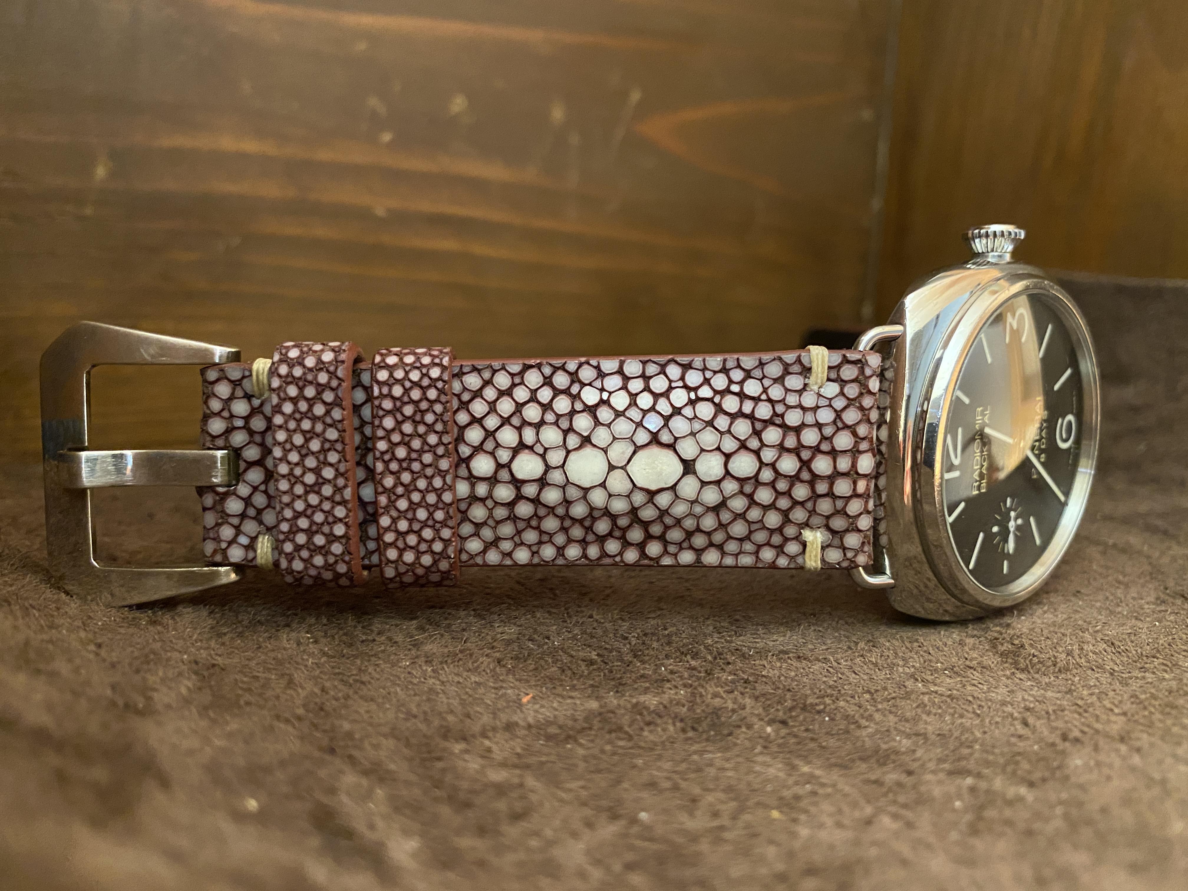 スティングレイ ガルーシャ腕時計ベルト|レザー腕時計ベルト「Yoshiki-WatchBox」