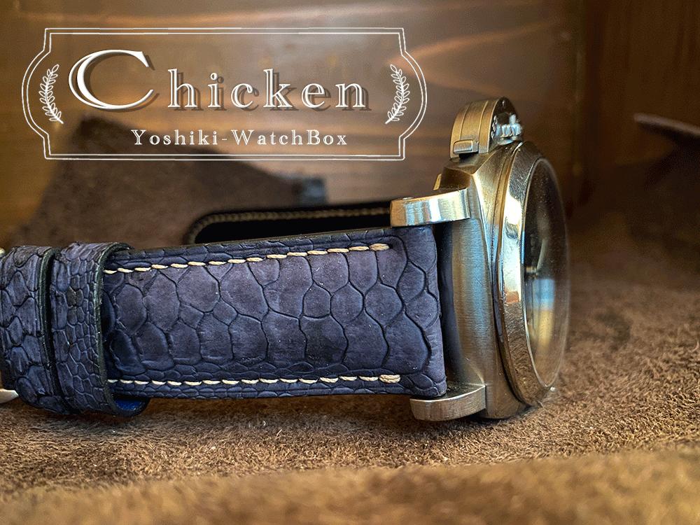 鶏のレザーを使った腕時計ベルトは珍しいです。page-visual 鶏のレザーを使った腕時計ベルトは珍しいです。ビジュアル